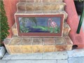Made 30 years ago from my sketch by local artisan and placed in small window of our house  We remod