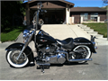 Black 2009 Harley Davidson softail deluxe Garage kept Vance and Hines true dual exhaust system H