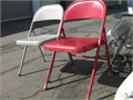 Lot of 2 Steel chairs