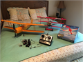 Two RC Airplanes with Futaba 4 channel controller extra servos and flight simulator software   Neve