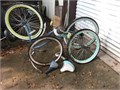 Bicycle parts wheels seats tires frames Call for info