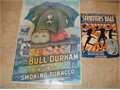 Selling My Collection Of Unique Black Americana Items  25x17 Bull Durham Smoking Tobacco Poste