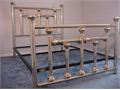 Queen brass bed completely restored by original manufacturer Brass Beds of Virginia  Completely di