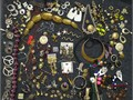 Approximately 150 pieces of vintage costume jewelry  Several earring sets are still attached to ori