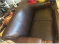 Nice genuine leather sofa great for apartments
