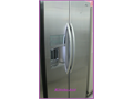 almost new kitchen-aid sideside stainless steel refrigerator comes with warranty delivery is availa