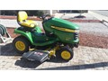 John Deere X320 Lawn Tractor with 22 hp Twin Cyld Engine48 Side Discharge Mowing DeckTwin Touc