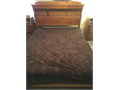 Custom Queen bed w Tempur-Pedic Mattress There is a hidden compartment in the head board includes