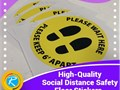 RegaloPrint is offering its services with quality social distance custom stickers made of quality ma