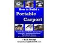 Build-Your-Own Portable Carport EBookSTOP Weather and Sun Damage email LarryHisCoNW