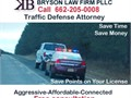 At Bryson Law Firm we defend againstSpeeding ticketsDriving while licens