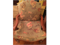 Occasional chair with brown squirrel and chipmunk upholstery 7500 662-299-9634