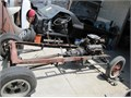 29 Ford rolling chassis with 1956 SBC 265 cu in pwr pac with pwr gluide 66 Nova rear end  40 fo
