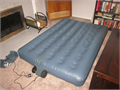 AEROBED INSTA-BED DOUBLE SIZE AIR BED comes with a built in 120V operated air pump quick inflate an