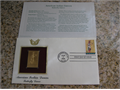 Gold replicas US stamps in 22kt gold Each stamp is a commemorative Great additions to your col