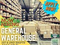 HIRING IMMEDIATELYWere hiring ASAP for our General Warehouse department 1st  2nd shifts avail