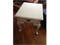 Broyhill End Table white distressed