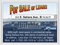 In Las Vegas Front store property on Sahara Avenue9000 sqft retail space in a commercial cente