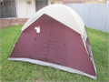 Coleman 3-4 man dome tent  8 x 7 x 54 tall MINT CONDITION complete with rain fly stakes and ca