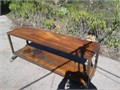 Custom made Steel work table Has locking casters Someone made this very strong and heavy was new