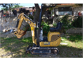 Caterpillar 300 Mini Excavator Diesel Low 600 HRS 3Buckets 2 are new Small 36 Wide Cat Digs BigSa