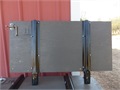 Heavy duty each panel 1 18 thick X 2 tall metal stakes metal latches I paid over 1000 in mat