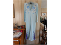 Light blue Elvis style jumpsuit with belt In good condition Contact Sandy at 805-448-7643