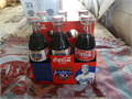 JACKIE ROBINSON 50TH ANNIVERSARY 1947-1997 COCA-COLA 6 bottle set 5 full 8 oz bottles and one 8 o