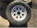 2 Rims with Tires 1 Rim without a tire 21575R14 30 each located Norco Ca 951-751-5531