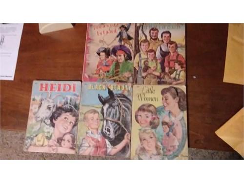 5 OLD CHILDREN BOOKS 1959