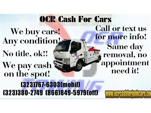 CASH FOR JUNK CARS