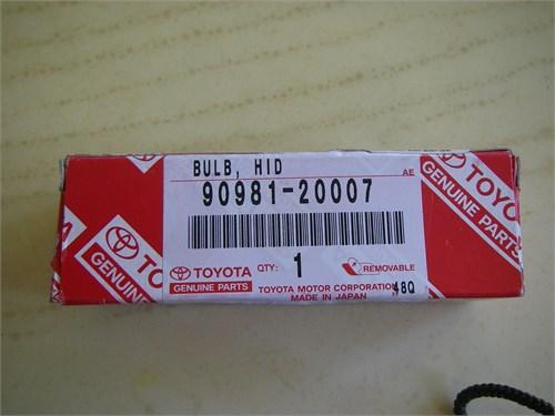 Toyota HID bulb & Ballast