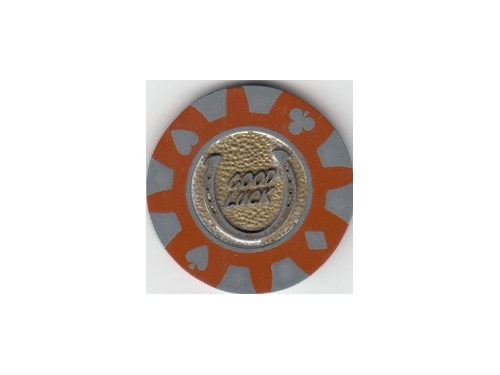 RARE MAROON CASINO CHIP !