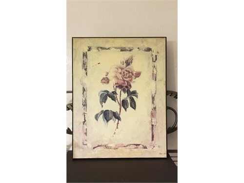 Hand Painted Rose Frame.
