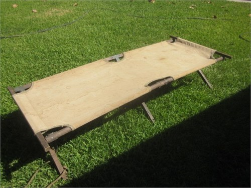 OLD MILITARY WOOD COT