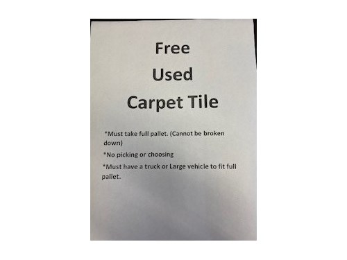 Free Slightly Used Carpet