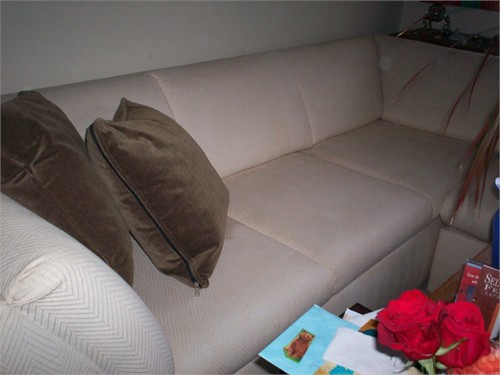 Cream Sofa and Love Seat