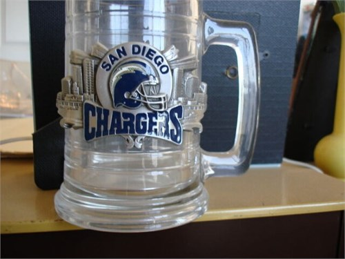 CHARGERS BEER STEIN+CAPS*