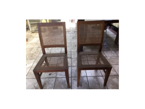 Wood dining chairs (4)