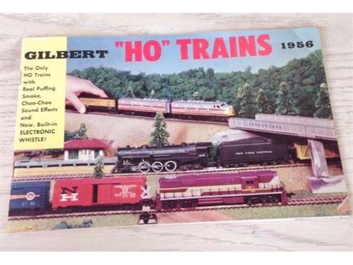 """1956 Gilbert """"HO"""" Trains"""
