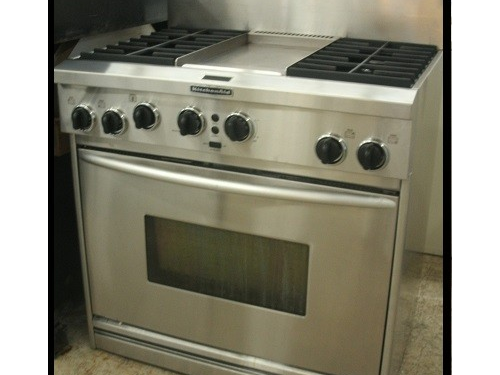 36in stainless range