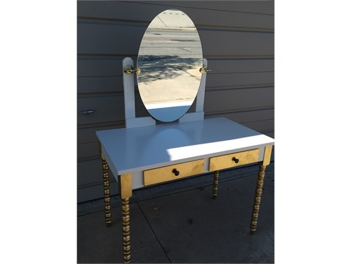 Makeup vanity all wood
