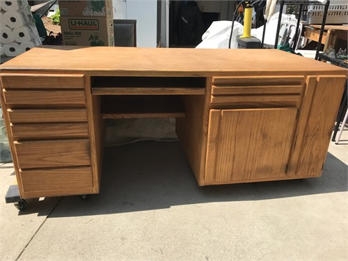 FREE LARGE OAK DESK