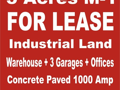 3 acres land 4 lease m1 z