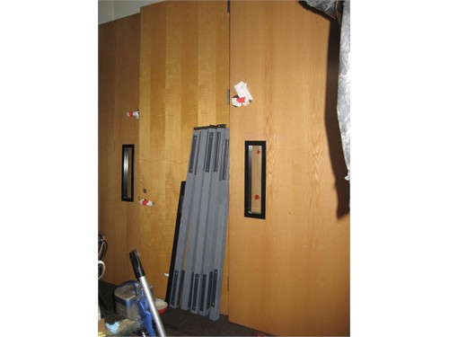 8' Oak Commercial Doors