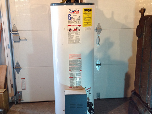 Hot Water Tank, LP Gas