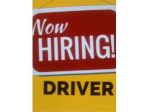 Hiring Drivers - $65.00 h