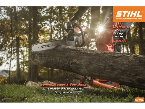 New MS250 Stihl chainsaws