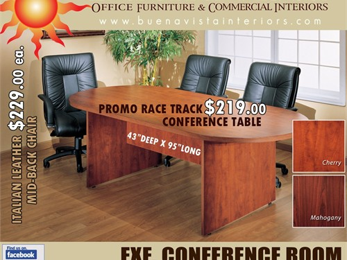 8'FT RACE TRACK CONF TABLE