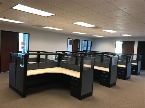 Used glass tile cubicles